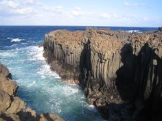 Columnar Basalt and lava inlet on Lanzarote, Canary Islands