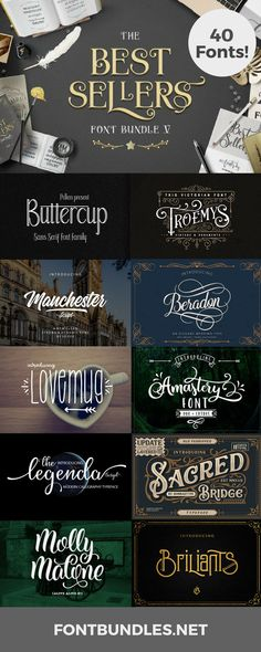 Best Seller Font Bundles | If you love fonts and love saving money at the same time you have come to the right place. FontBundles.net was born out of the notion that premium fonts can cost a fortune on their own and sometimes for crafters on a budget they are not always accessible. Our very first products were Font Bundles and people just couldn't get enough. #font #freefonts #elegantfont #typeface #graphicdesign