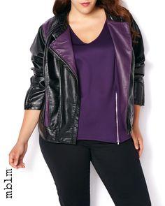 mblm Faux-Leather Jacket | Penningtons