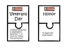 #military #veterans Veterans Day Vocabulary Puzzle - @ www.HireAVeteran.com