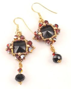 Instructions for Spit Fire Earrings       beading by njdesigns1, $10.00