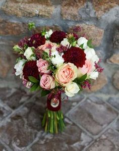 Hottest 7 Spring Wedding Flowers to Rock Your Big Day-burgundy and blush wedding. Hottest 7 Spring Wedding Flowers to Rock Your Big Day-burgundy and blush wedding colors, spring wedding flowers of roses, bridal bouquets, Blush Wedding Colors, Burgundy And Blush Wedding, Spring Wedding Flowers, Floral Wedding, Trendy Wedding, Burgundy Bouquet, Burgundy Flowers, Autumn Wedding, November Wedding Flowers