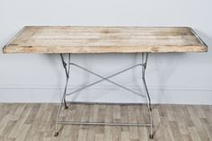 Large Rectangular Industrial Upcycled Garden Kitchen Trestle Table with Reclaimed Wooden Top