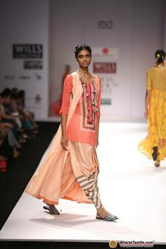 Delhi by Anupama Dayal http://anupamaa.com/   Wills Lifestyle India Fashion Week - AW 2013 - 14   Fashion collection @ BharatTextile.com