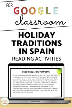 Are you trying to find lesson plans for La Navidad and holidays in Spain? Check out this printable and digital reading activity for the holiday season in your middle school or high school Spanish classroom! No prep lesson plan for Christmas and Día de los Reyes Magos in this print and go or post and go lesson plan! Cultural lesson, reading, writing, and easy to use all in one! Click to see more!