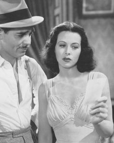 The beautiful Hedy Lamarr and Clark Gable, Wow!