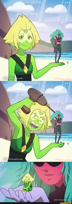 Awww...^^ Peridot and Alexandrite