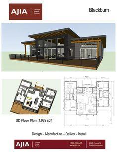 Lake House Plans, New House Plans, Dream House Plans, Modern House Plans, Small House Plans, House Floor Plans, Container House Design, Small House Design, Cottage Design