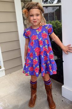 Matilda Jane Fall 2013 American Beauty Lap dress and Gemma socks.  Boots are by Elephantito.  www.AbbyTrends.com