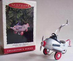 RARE 1996 NEW HALLMARK MURRAY AIRPLANE #3 KIDDIE CAR CLASSICS CHRISTMAS ORNAMENT
