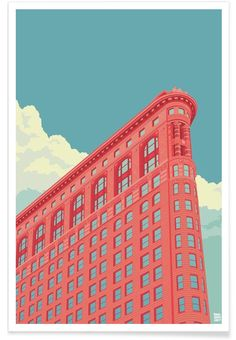 Flatiron Building New York City VON Remko Heemskerk now on JUNIQE!