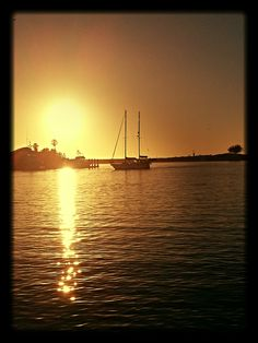 Ventura Harbor at Sunset