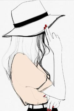 Cute picture of a girl in a hat     -=-=-=-LOVE IT-=-=-=-