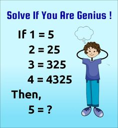 Solve If You Are Genius Tricky Pattern Number Puzzles- With Answer and Solutions. Math Puzzles Only For genius with Answer. Math Riddles With Answers, Brain Teasers With Answers, Brain Teasers Riddles, Tricky Riddles, Jokes And Riddles, Hard Riddles, Quiz With Answers, Funny Riddles, Funny Jokes