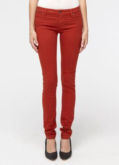 Vince colored skinny jeans- Rust! I just got a pair of these and LOVE them!!!