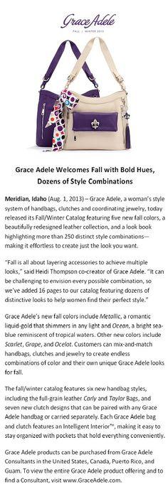 Introducing the #GraceAdele Fall/Winter 2013 Catalog! Charlottelee.graceadele.us