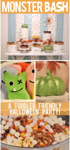 A Toddler Friendly Halloween Party - I want to do this! Halloween will be the first holiday after we move to Sitka and I love the idea of joining  together with some other moms and throwing a kid party.