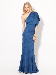 Catherine Malandrino Jersey Panel Gown