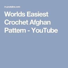 Worlds Easiest Crochet Afghan Pattern - YouTube