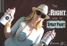 The 'RIGHT' way to Spray Paint! Professional painting tip! Her husband is a pro painter! #spraypaint #diy #paint
