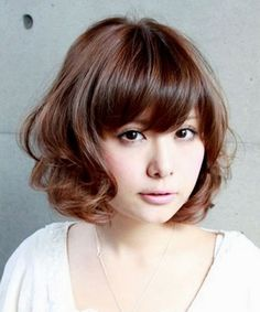 Asian Short Hairstyles 2015 for Women Cute Short Curly Hairstyles, Girls Short Haircuts, Hairstyles With Bangs, Asian Hairstyles, Layered Hairstyles, Beautiful Hairstyles, Hairstyles Haircuts, Wedding Hairstyles, Hair Styles 2014