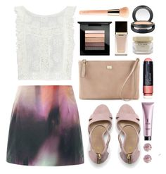 """""""Mauve Pearl"""" by sophiehackett ❤ liked on Polyvore featuring Mary Katrantzou, MAC Cosmetics, Tom Ford, Dolce&Gabbana, Lands' End, MINKPINK, Smashbox, Elie Saab, SkinCare and Guerlain"""