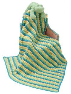 Soft Shells Baby Blanket - Free Crochet Pattern by Brenda Bourg at Yarnspirations