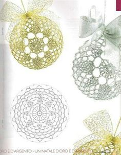 Crochet Lace to Cover a Christmas Ball - Thread with a metschematy bombek by siwabombka na Stylowi.crochet for X-Mas Christmas Crochet Patterns, Crochet Christmas Ornaments, Crochet Snowflakes, Beaded Ornaments, Christmas Baubles, Holiday Ornaments, Crochet Doilies, Christmas Crafts, Christmas Decorations