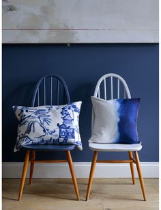 Bluebellgray  | Willow Collection Love the Ercol Shaker Chairs in Blue & White
