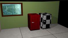 Refrigerador con textura y checkers