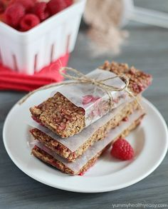 These Raspberry-Chocolate Protein Bars are delicious homemade protein bars, chock full of protein and flavor - perfect for pre or post-workout.