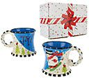 Temp-tations Figural Set of 2 16oz. Mug Set w/ Gift Box — QVC.com