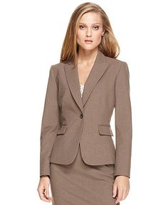 Tahari by ASL Jacket, Single Button Suiting - Womens Jackets & Blazers - Macy's
