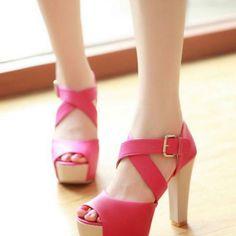 Women's Summer Elegant Cross-Strap High-Heeled Sandals