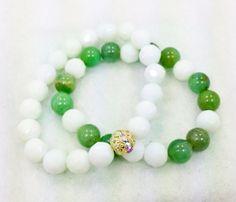 Jade Set Strech Bracelets by Graceandliz on Etsy, $10.00