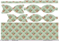 Christmas Robin paper Bows and pale Green background paper on Craftsuprint designed by Jayne Amoah - This design sheet has 2 sizes of printables paper bows and background paper for your craft projects. The pattern is of a robin perch in a floral bouquet with a bow in a green background.The completed larger bow measures just under 1.75 x 4.5 inchesand the smaller bow will be 1.5 x 4 in approx. - Now available for download!