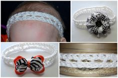Calleigh's Clips & Crochet Creations: Free Pattern- The Addison Headband--this has a great reference for sizes by age.