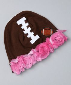 baby girls love football too! My little Ali is going to need this for when she's with Dad!