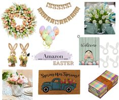 Easter Decor, Easter Crafts, Fun Crafts, Easter Flowers, Amazon Home, Wreath Crafts, Easter Wreaths, Beautiful Kitchens, Amazing Flowers