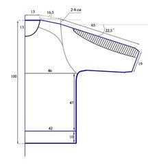 Выкройка-схема свитшота к Вебинару