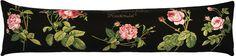 Coussin long 25x90 Rosa Centifolia. Tissé jacquard. Tissé en France par Tissage Art de Lys