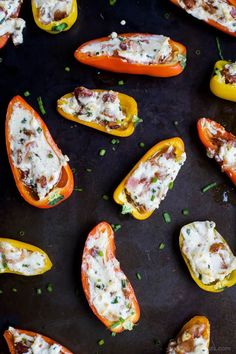 CHEESY BACON STUFFED PEPPERS, everything about this delicious appetizer is addicting! Perfect for the holidays! Top these little pepper bites with a dab of pepper jelly and I guarantee you'll be in a heaven!