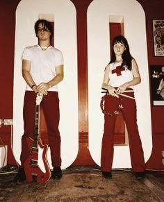 Jack and Meg White Meg White, Jack White, Black And White, Tiger Beat, The White Stripes, White Strips, Shades Of White, My Favorite Music, Music Bands