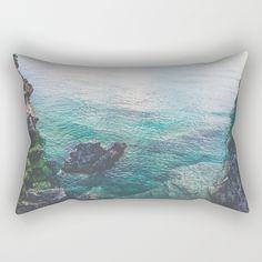 Freshwater Rectangular Pillow by untitledgallery Lumbar Pillow, Throw Pillows, Poplin Fabric, Fresh Water, Accent Decor, Zipper, Contemporary, Medium, Room