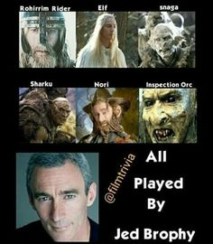 Did you know?? so technically he was elf, dwarf, human and orc nice