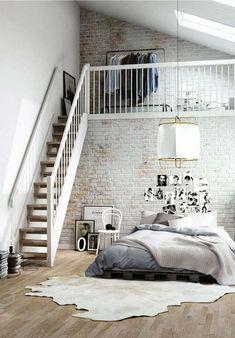 Dormitorio industrial rústico