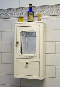 1930s Bathroom Cabinet. Downstairs