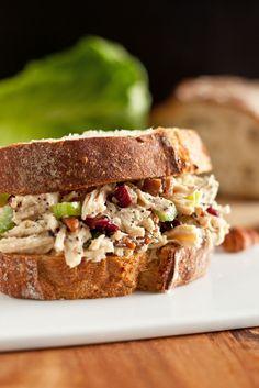Sonoma Chicken Salad Sandwich - (Free Recipe below)-Atıştırmalık tarifler - Las recetas más prácticas y fáciles Salad Sandwich, Soup And Sandwich, Chicken Sandwich, Sonoma Chicken Salad, Little Lunch, Cooking Recipes, Healthy Recipes, Healthy Lunches, Cookbook Recipes