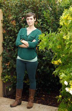 Disney Bound Merida -- Thrifted shirt, jeggings & boots create a Merida-inspired look | Delightfully Kristi #ThriftStyleThursday