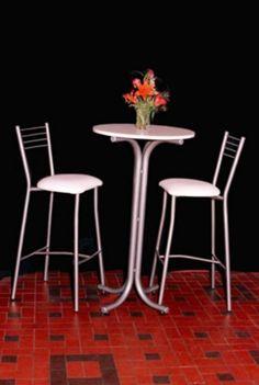 ART M/D 805 Alquiler de mesas y alquiler de sillas altas utilizadas en recepciones, presentacion de productos, cocktails, stands, eventos corporativos, fiestas, etc. Color de tapa blanca, negra o gris Base color aluminio. Alta calidad y resistencia. Medida 0.60 de diametro